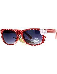 Whisker Heart Rhinestone Girls Horn Rim Sunglasses