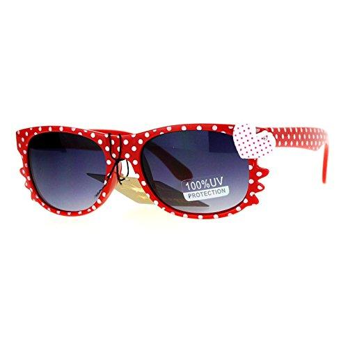 SA106 Whisker Heart Rhinestone Girls Horn Rim Sunglasses - Rhinestone Sunglasses Heart