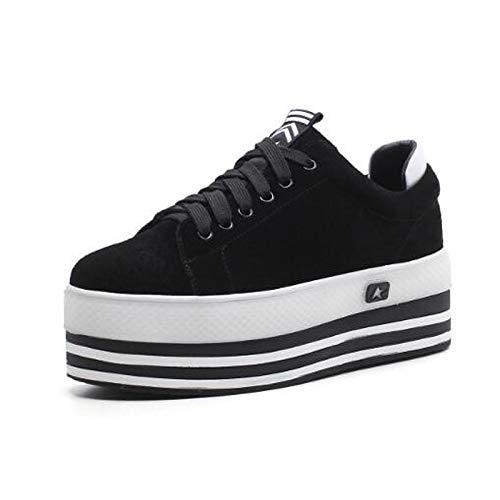 Estate Black donna Creepers ZHZNVX Primavera Nero Scarpe Punta da Nappa Comfort Marrone Sneakers Pelle scamosciata Pelle chiusa gqfqAx8