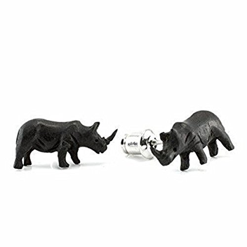 WildKlass Rhino Makerpin Earring Studs (Rhino Earrings)