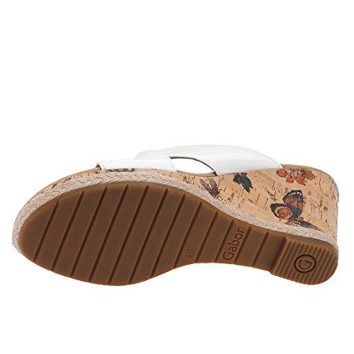 Sabots 62 Sandales Jute Des Femmes korkfl Des Mules Supplémentaire Gabor Femmes 829 Des Chaussure La Un Weiss Chaussures 61 Espace Dans EwpXcq1wf