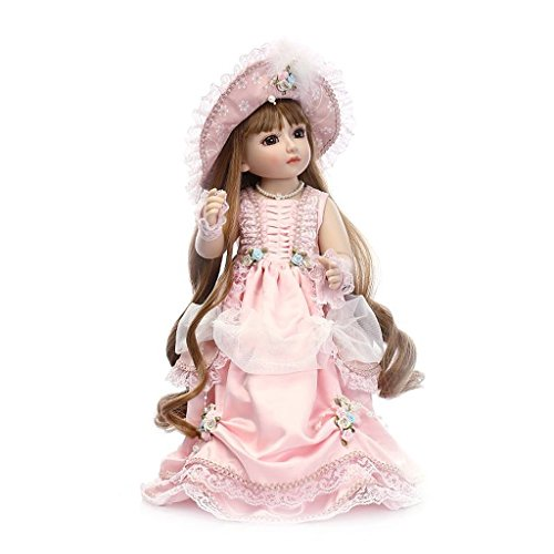 Cicitop 18inch Realistic Lolita Doll Beautiful Princess Dolly Kids Toy Doll Children Gift with Hair&Dress