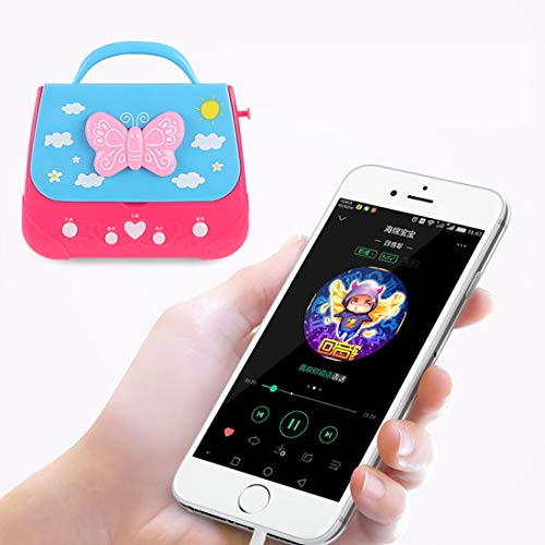 XSHION Karaoke Machine for Girl,Children Portable Musical Bag Karaoke Machine Toys with Microphone Karaoke Player Connect MP3 Smartphone - Butterfly by XSHION (Image #2)