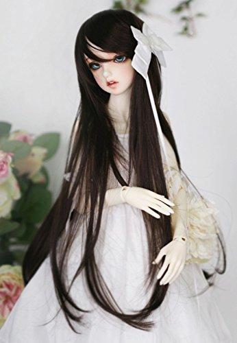 Bjd Wig (Kuafu 9-10 Inch (22-24cm) 1/3 BJD/SD Doll Wig Fashion Cute Long Curly Hair Wigs Black)