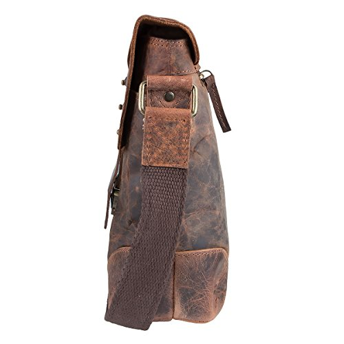 36 Classic Nature Cm Brown Bag Shoulder Greenland Leather ZxfTww7