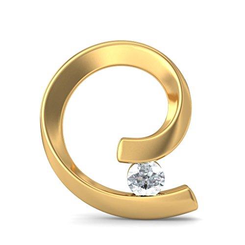 Or jaune 18K 0,14CT TW White-diamond (IJ | SI) Boucles d'oreille à tige