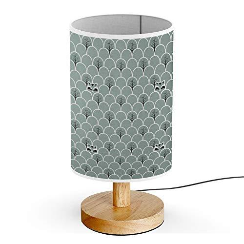 ARTSYLAMP - Wood Base Decoration Desk Table Bedside Light Lamp [ Raccoon Forest ]