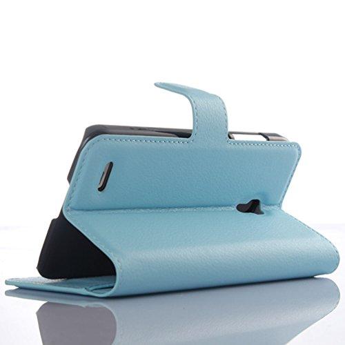 Manyip Funda Alcatel One Touch POP 2(5.5) premium OT7044,Caja del teléfono del cuero,Protector de Pantalla de Slim Case Estilo Billetera con Ranuras para Tarjetas, Soporte Plegable, Cierre Magnético( H