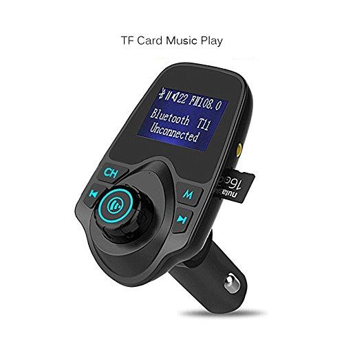 Semoic Nouveau kit de Voiture LCD Bluetooth Lecteur MP3 sans Fil Mains-Libres Emetteur FM AUX Chargeur USB