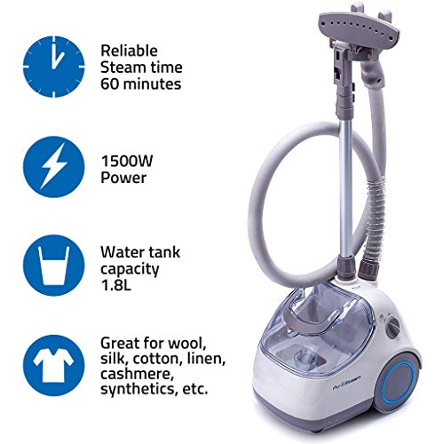 PurSteam Elite Garment Steamer By, Heavy Duty Powerful Fabric Steamer with Fabric Brush and Garment Hanger