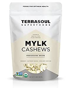 Terrasoul Superfoods Raw Organic Cashews (Mylk Grade), 2 Pounds
