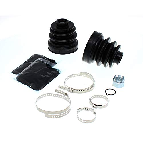 (Rear Inner & Outer CV Axle Boot Kit Set For 1999-2002 Polaris Sportsman Worker 335 400 500 455 Replaces 2204361 2202904)