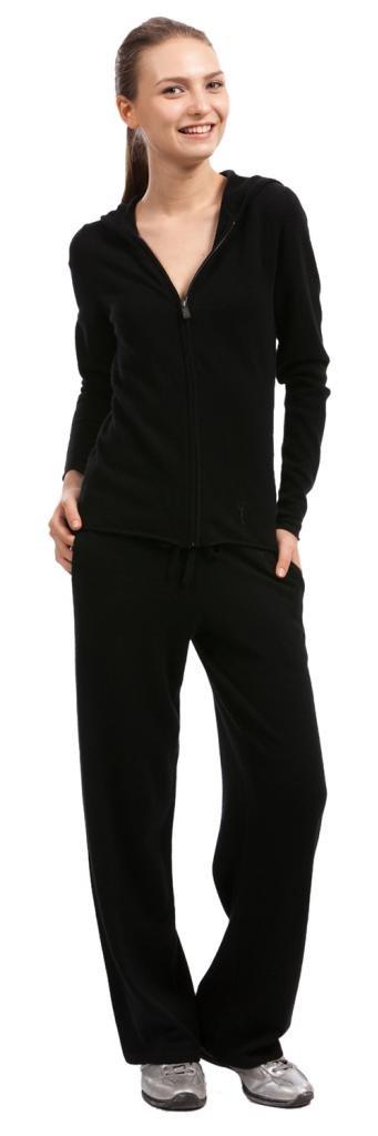 Lounge Pants - 100% Cashmere - by Citizen Cashmere (X-Large, Black)