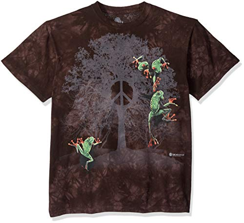 (The Mountain Peace Tree Frog Adult T-Shirt, Black,)