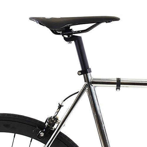 Golden Cycles Fixed Gear Bike Steel Frame Fixie with Deep V Rims Collection 41), Chrome
