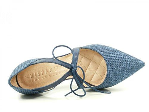 para de tacón cuero mujer HV74902 Honey Blau de Zapatos Hispanitas x46tSnqw06