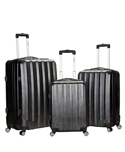 Rockland Luggage Metallic 3 Piece Hardside Spinner Set