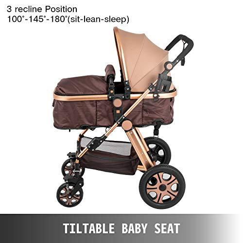 415bdKiHFGL - VEVOR Baby Stroller 2 In 1 Stroller Bassinet Stroller Foldable Anti-Shock Newborn Stroller Baby Carriage Stroller Luxury Baby Trend Stroller Stroller For Baby Pram Stroller