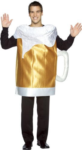 Glass Of Beer Costume - Beer Mug Adult Costume - One Size