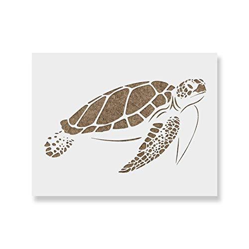 Amazon Sea Turtle Stencil Template