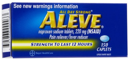 Aleve All Day Strong Pain Reliever Fever Reducer 200mg, 150 Caplets by ALEVE