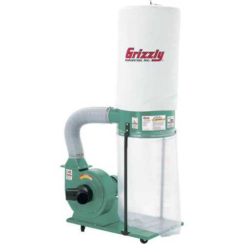 Grizzly G1028Z2 1-1/2 HP Dust Collector Planer Dust Collector