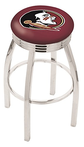 "Logo Series Bar Stool NCAA Team: Florida State ""Head"", Size: 25"", Frame Type: Solid Welded Black"