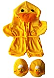 Duck Robe & Slippers Pajamas Outfit Teddy Bear