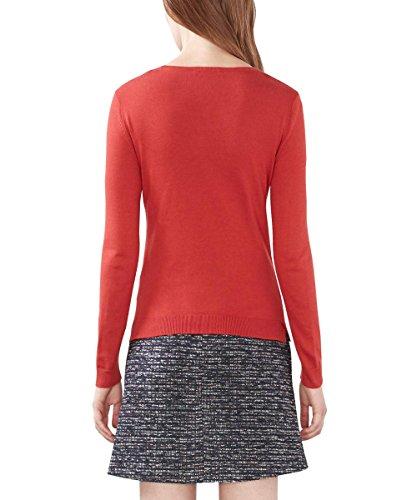 edc by Esprit Basic Mit Rundhals, Suéter para Mujer Rojo (dark Red 610)
