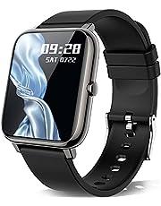 Smartwatch, KALINCO 1,4 tums pekskärm med personlig skärm, armbandsur med blodtrycksmätning, puls, sömnmonitor, sportklocka IP67 vattentät stegräknare för kvinnor och män