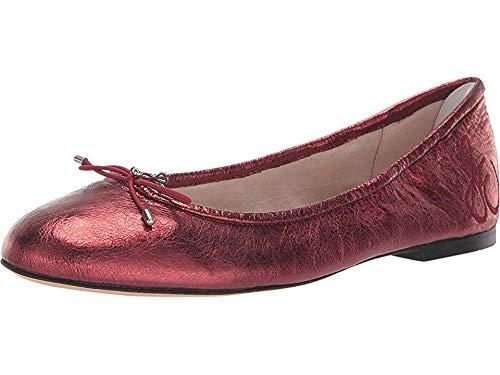 Sam Edelman Women's Felicia Ballet Flat, Metallic Rust Metallic Leather, 10 M US