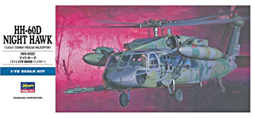 Hasegawa HH-60D Night Hawk, 1/72 Scale D Series USAF Combat Rescue Helicopter Model Kit/Item # 00437