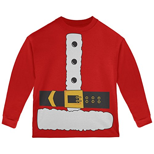 Hipster Santa Claus Costume (Santa Claus Costume Red Toddler Long Sleeve T-Shirt - 4T)
