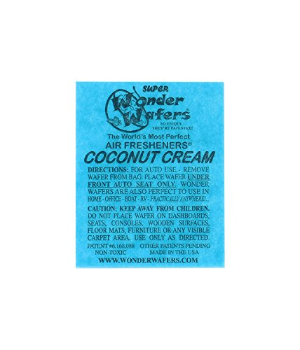 - Wonder Wafers 3110 Coconut Creme Scent Car Truck Air Freshener Wafer - 50 Pack