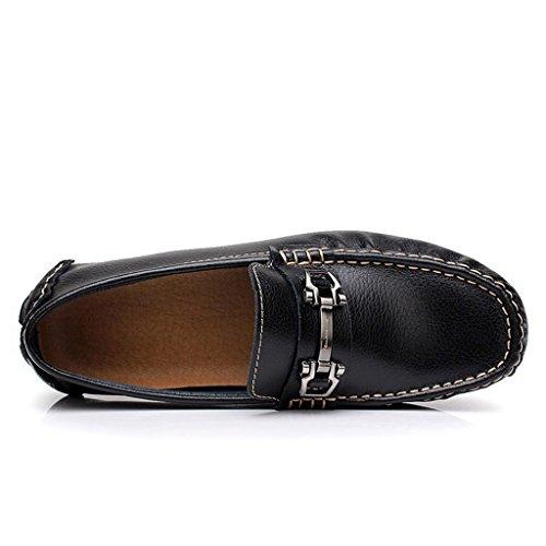 Tda Mens Appliques À La Mode En Cuir Oxfords Mocassins Chaussures De Bateau Daffaires Noir