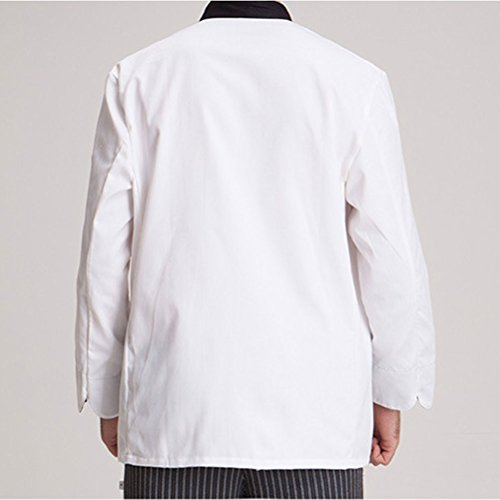 Zhhlaixing Classic Long Unisex Uniform Simplicity Chef Clothes White Work White Sleeve CxXqFwC