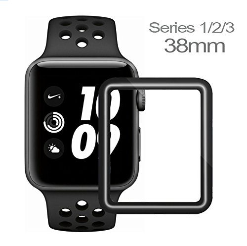 Apple Watch Screen Protector 38mm, Apple Watch 38mm Tempered Glass Screen Protector, Anti-Scratch Scratch Resistant, Full Coverage Scratch Proof Screen Film for Apple iWatch 38mm Series 3/2/1 [1 Pack]