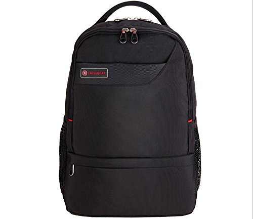 Waterproof Backpack Explosion of Swiss Army Men s Shoulder Bag Waterproof  Backpack (Black) f8cf967646da6