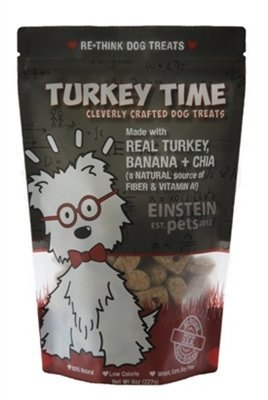 Made in the USA Natural and Organic Low Calorie Dog Treats - Turkey Bacon by Einstein Pets - 8oz by Einstein Pets (Image #1)
