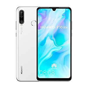 Huawei P30 Lite Smartphone, 128 GB 6.15 Inch FHD+ Dewdrop Display Smartphone with MP AI Ultra-wide Triple Camera, 4 GB RAM, Android 9.0 Sim-Free Mobile Phone, White