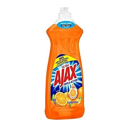 Ajax Ultra Triple Action Orange Dish Soap, 28 Fl Oz, Pack of 2