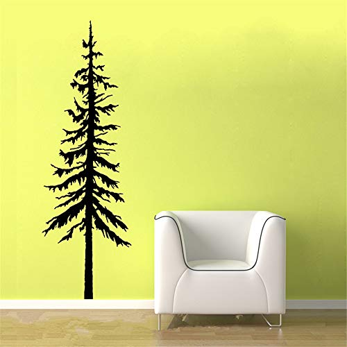 (Oderio Wall Sticker Removable Wall Decals Inspirational Vinyl Wall Art Nursery Kid Bedroom Christmas Tree for Living)