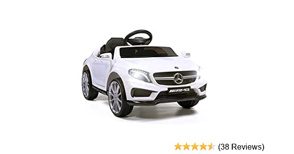 TOBBI Licensed Mercedes Benz Car for Kids,Ride on Cars with 2.4G Remote Control,Double Doors 5 Point Safety Belt,LED Lights,Red
