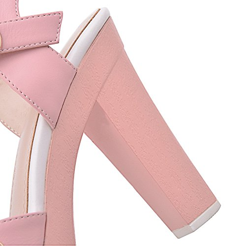 Pink Solid Rain Sandals Girls Material 1TO9 Rivet Soft Studded w8OvxTEq