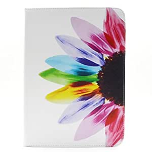 GX Modelo de flores colorido de la PU cuero caso de cuerpo completo con ranura para tarjetas y soporte para la lengüeta de Samsung 4 10.1