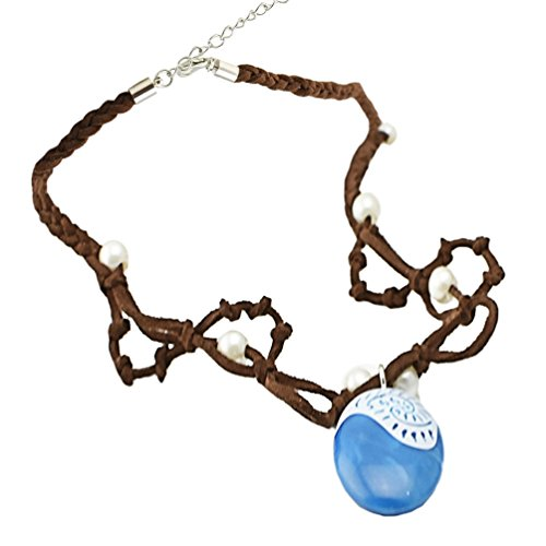 Angelaicos Natives Polynesian Princess Necklace for Adult Kids (One Size, Necklace)]()