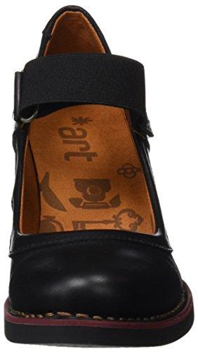 ART Damen 1071 Star St.Tropez Hohe Absätze mit Geschlossener Spitze Schwarz (Total Black)