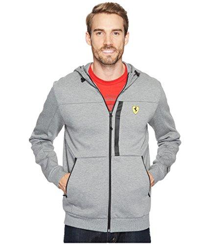 Puma Mens Sweat Jacket - PUMA Men's Scuderia Ferrari Hooded Sweat Jacket, Grey, XL