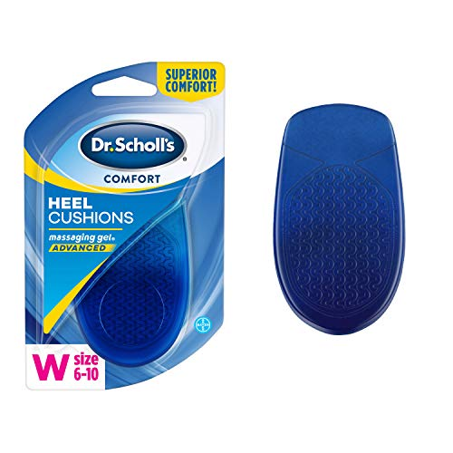 Dr. Scholl's Massaging Gel Advanced HEEL CUSHIONS (Men's 8-13, Women's 6-10) // Shock Absorption and Cushioning to Relieve Heel Discomfort  (Packaging May Vary)
