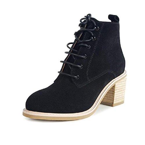 Stivali scarpe giornaliero tacco alto Chelsea Boots bestiame camoscio donna , 35 , brown 38